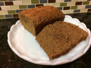 banana bread on a white plate