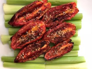 Roasted Air-Fried Plum Tomatoes